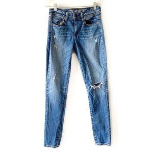 American Eagle Super Skinny Distressed Jeans